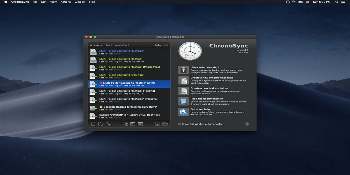 La aplicación ChronoSync se actualiza a macOS Catalina