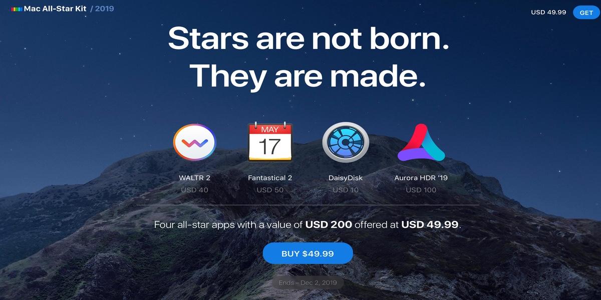 Fantastical 2, Aurora HDR, Waltr 2 y DaisyDisk para Mac con un 75% de descuento