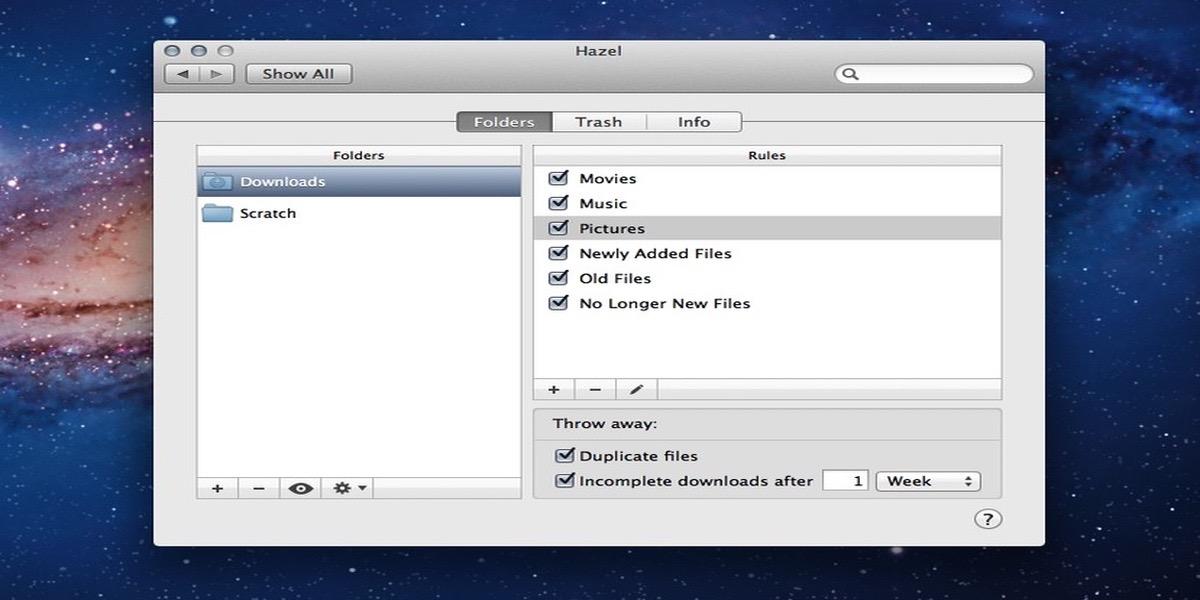 Con Hazel para Mac podrás automatizar el guardado de tus archivos
