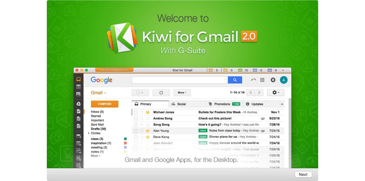 Kiwi gmail