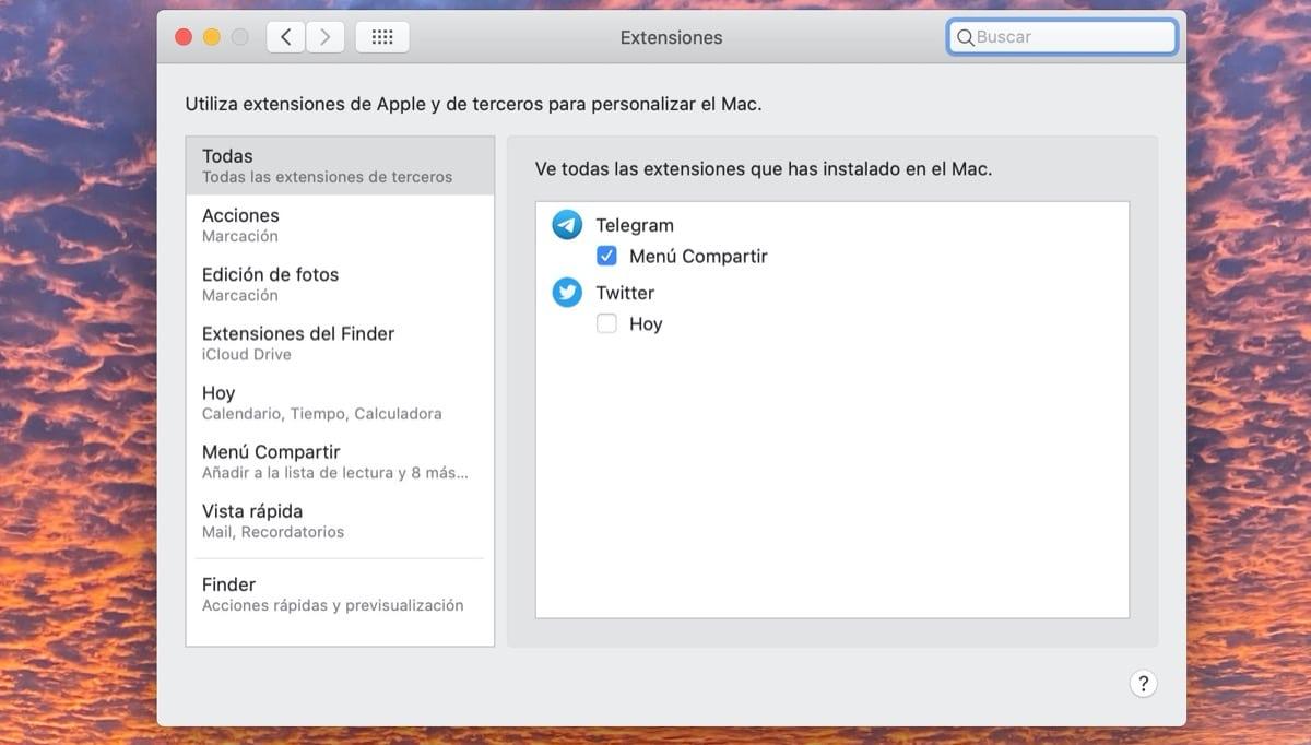 Extensiones Mac