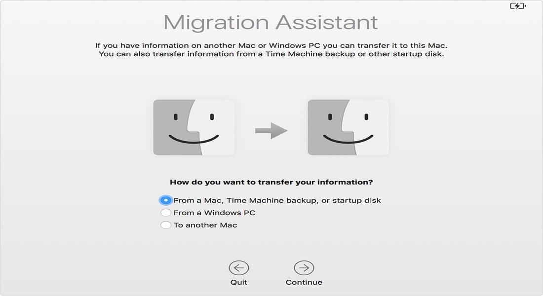 El asistente de migración de Apple te ayuda a pasarla información de un antiguo Mac a un nuevo Mac