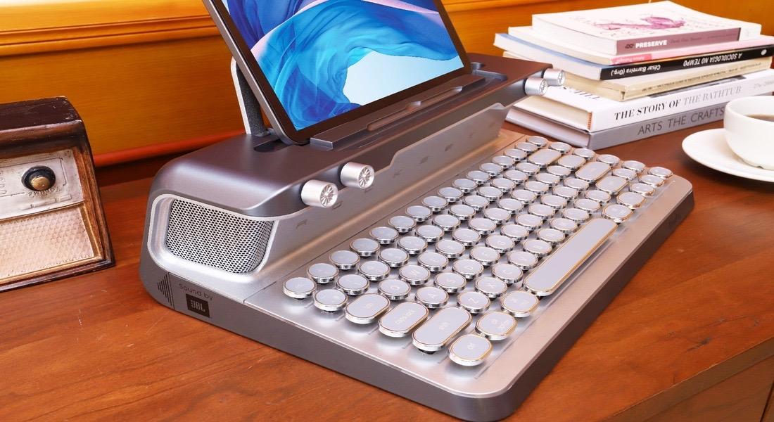 Un teclado mecánico muy retro válido como regalo de reyes