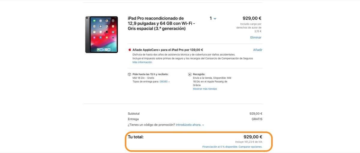 Los productos reacondicionados por Apple ahora se pueden financiar a coste 0