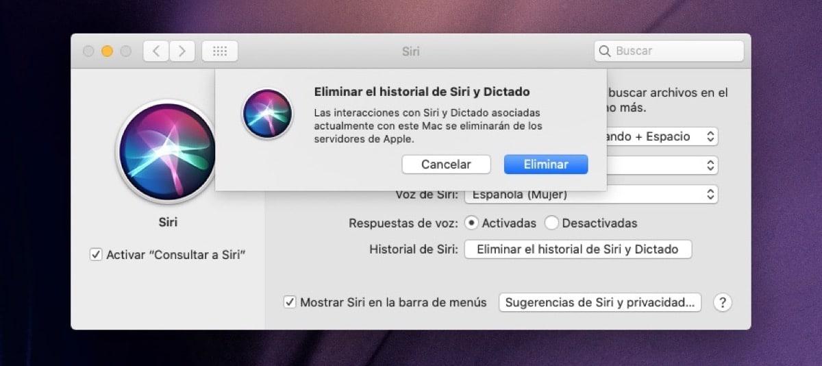 Siri y dictado