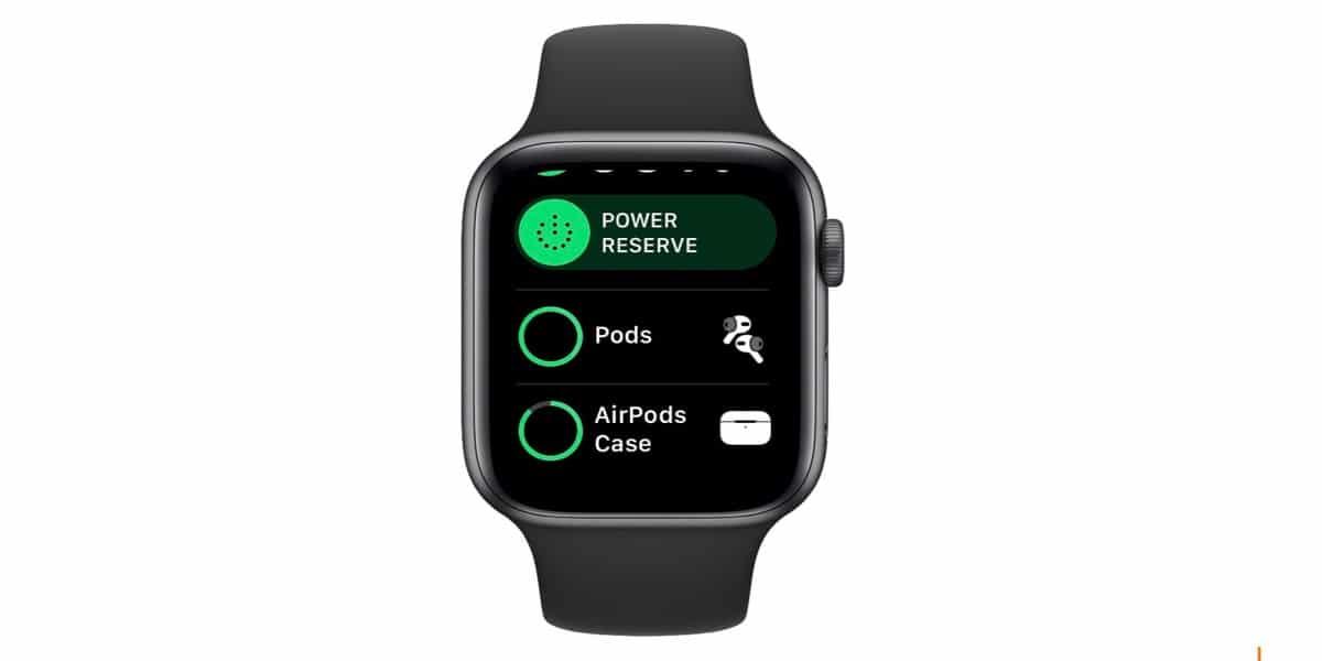 Comprueba la batería de los AirPods desde el Apple Watch