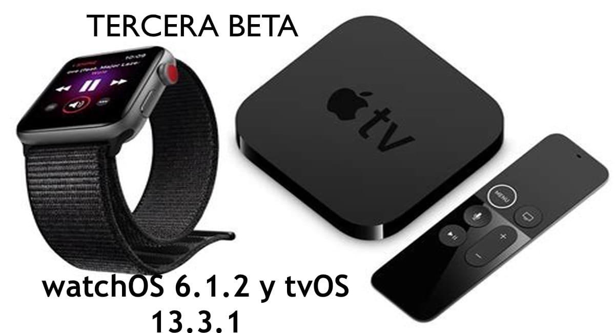 Lanzadas las terceras betas de watchOS 6.1.2 y tvOS 13.3.1