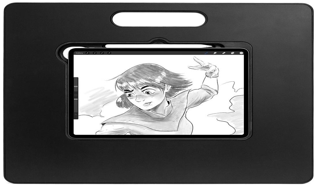 Una base que convierte tu iPad Pro en un cuaderno de dibujo