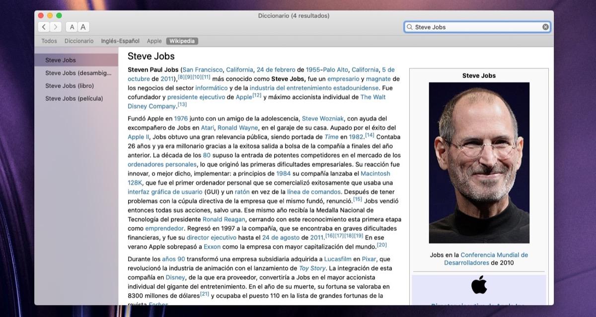 Diccionario, ese gran desconocido en macOS