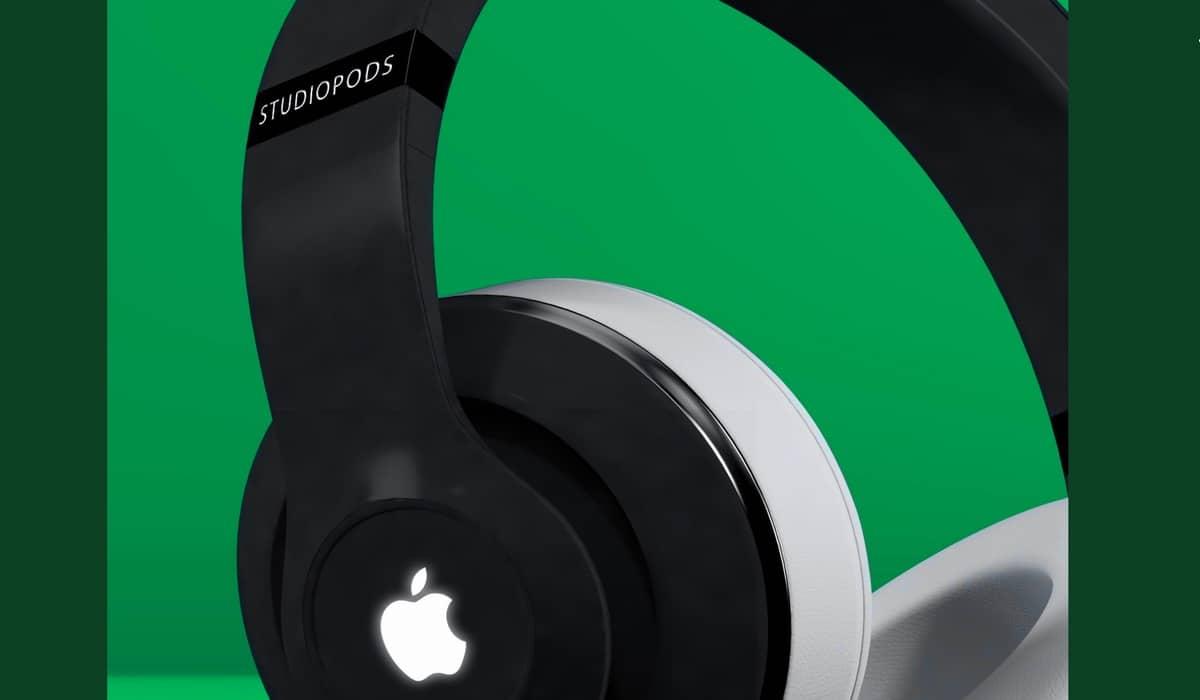 Concepto de cómo serían los auriculares premium de Apple