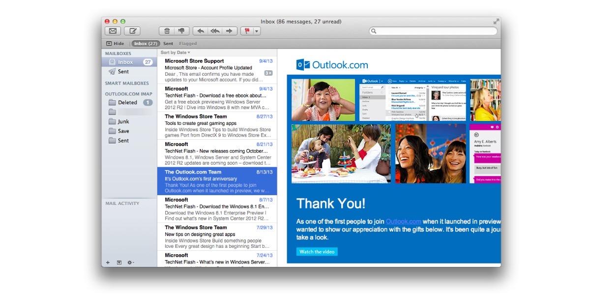 Como poder añadir un correo de Outlook a la aplicación mail de tu Mac