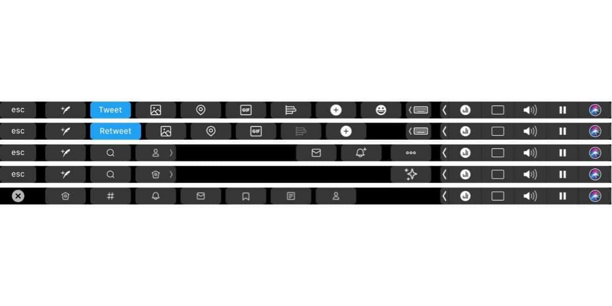 Mejora de compatibilidad de Twitter con la Touch Bar