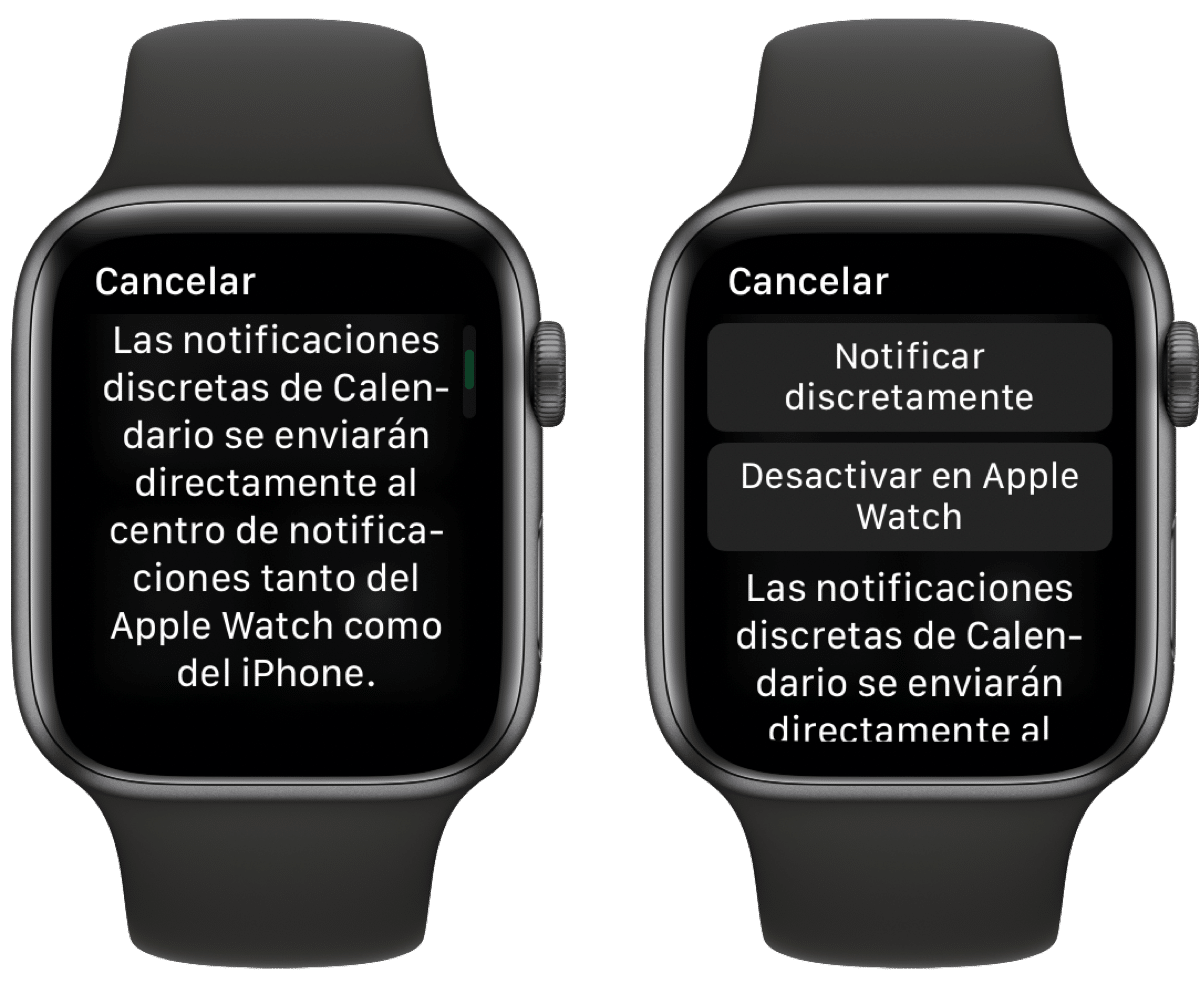 Notificaciones discretas