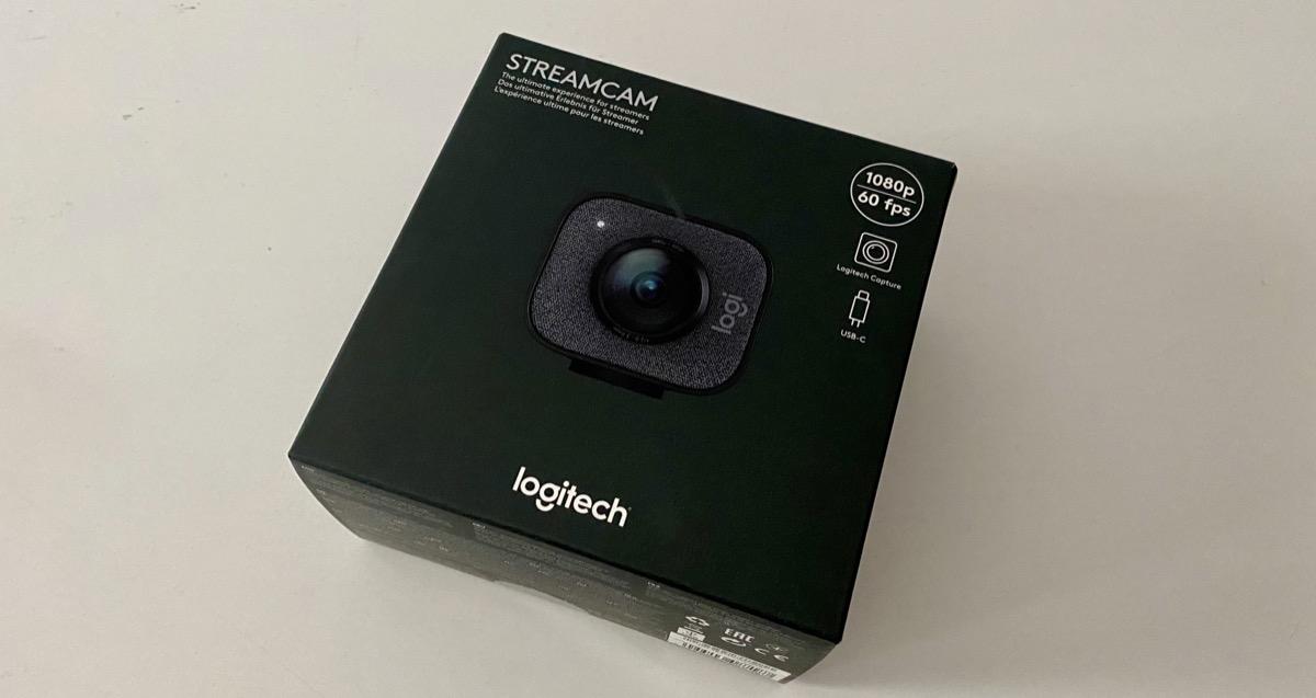StreamCam Logitech caja