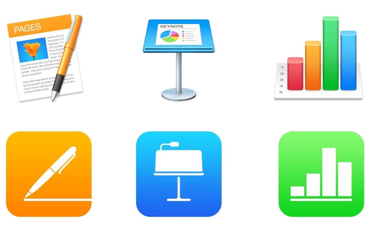 Las aplicaciones iWork actualizadas