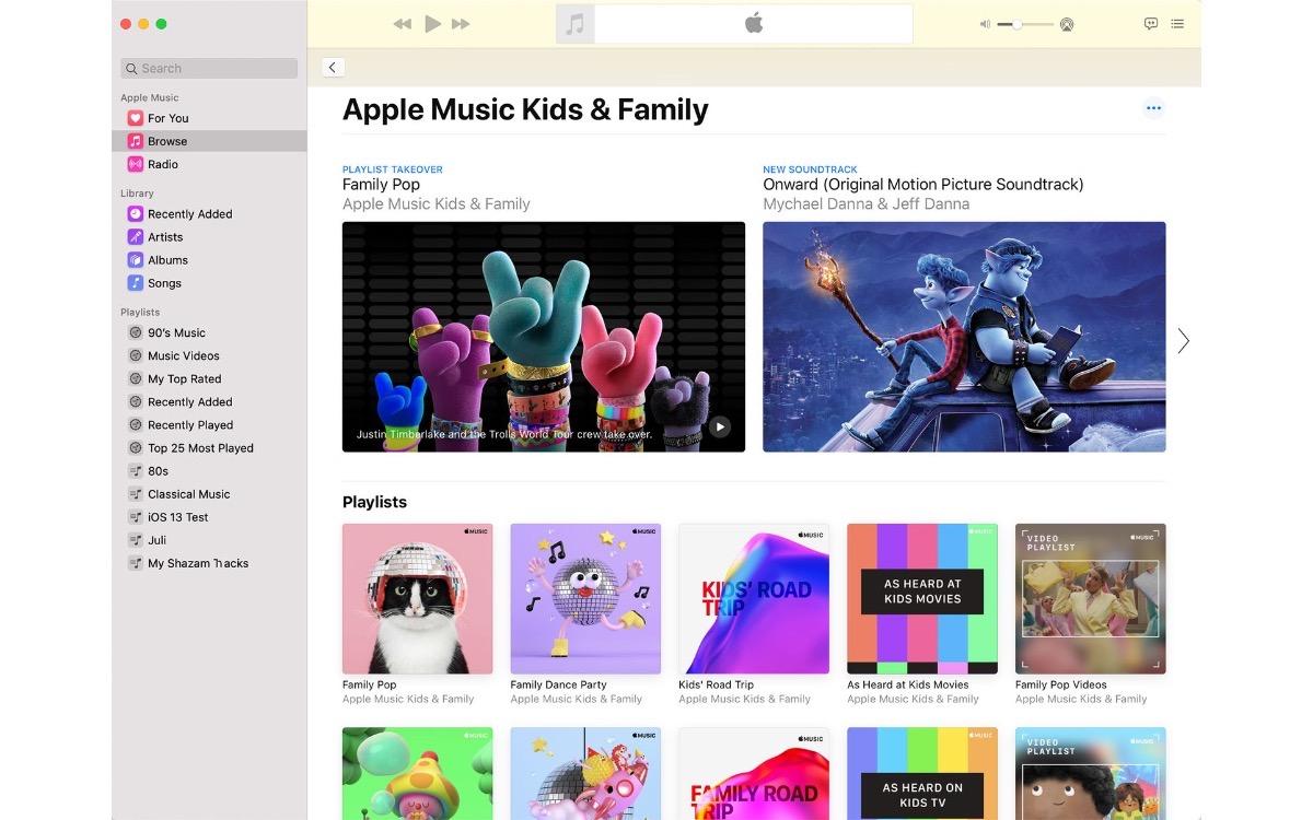 Apple Music y el contenido para familias