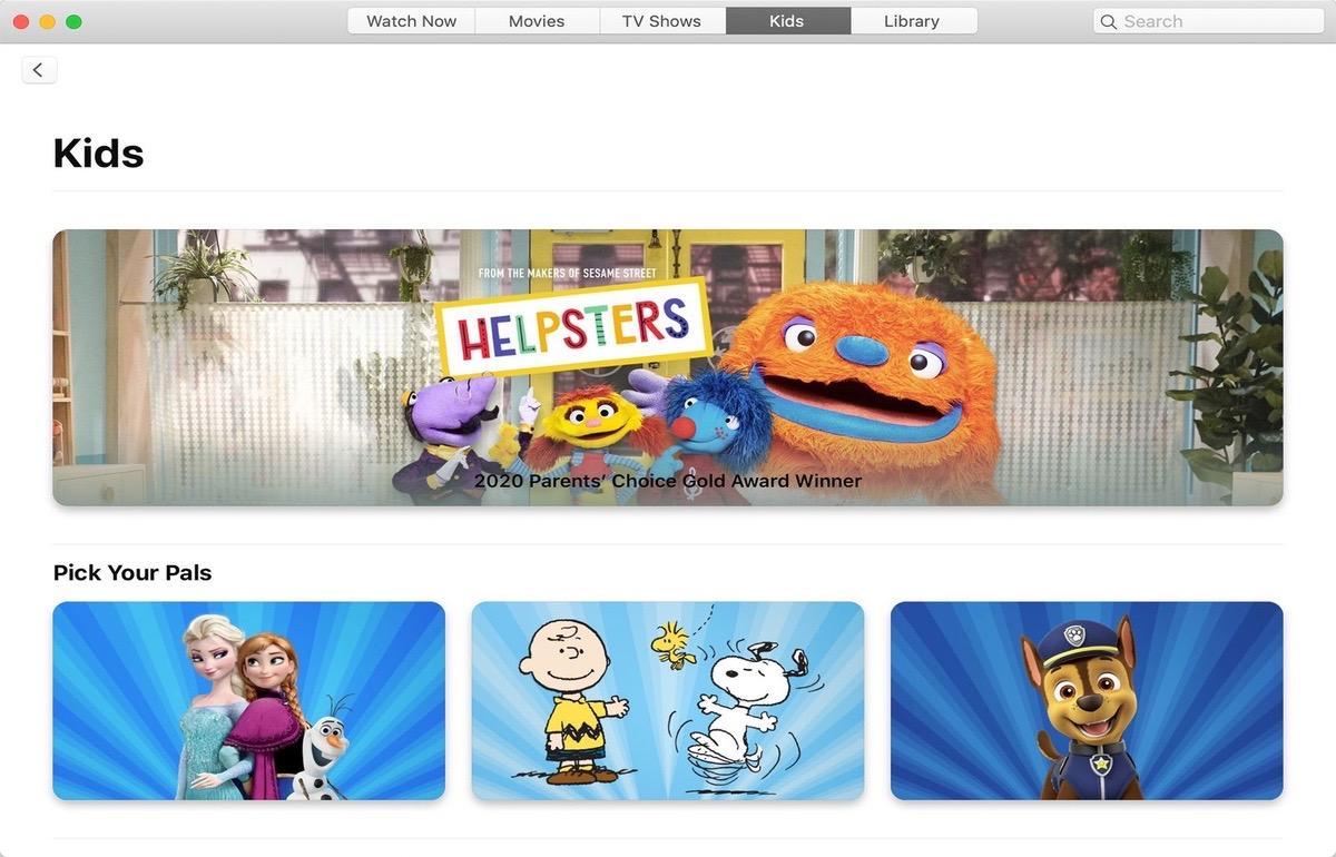 Contenido especifico para familias en Apple