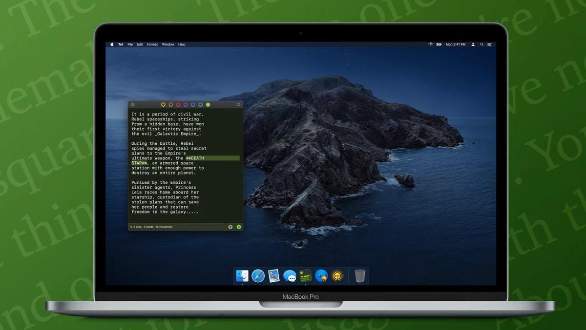 Aplicación Tot notas para Mac