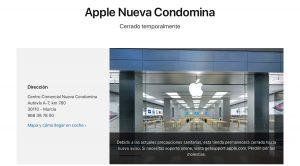 Apple store cerrada covid