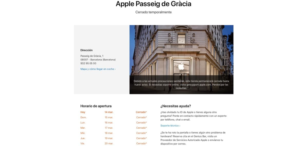 Apple store cerrada covid