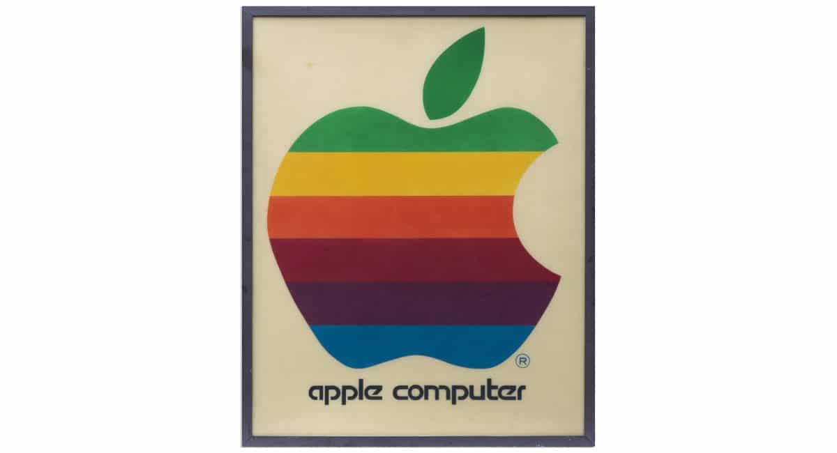 Subasta Apple letrero