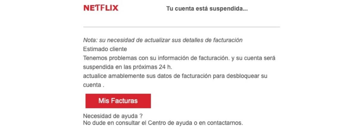 Netflix estafa