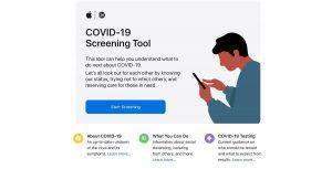 Privacidad de Apple en los recursos del COVID-19