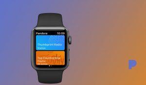 Pandora se actualiza para el Apple Watch y es compatible con Siri