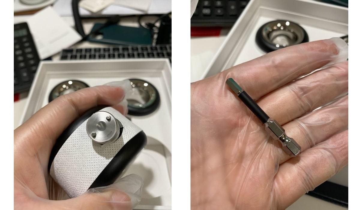 Pieza hexagonal para las ruedas Mac Pro