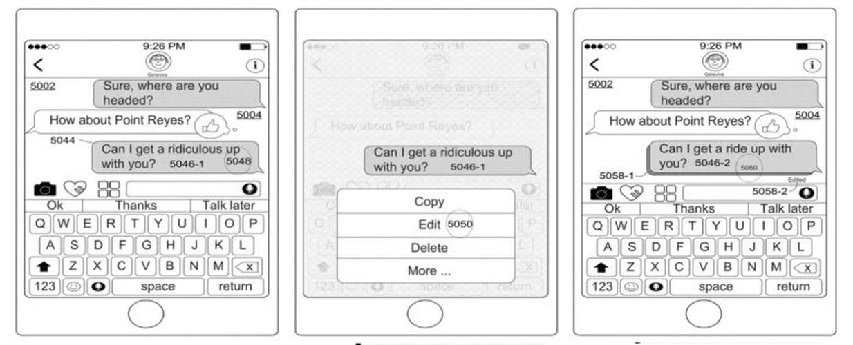 Editar mensajes de iMessage