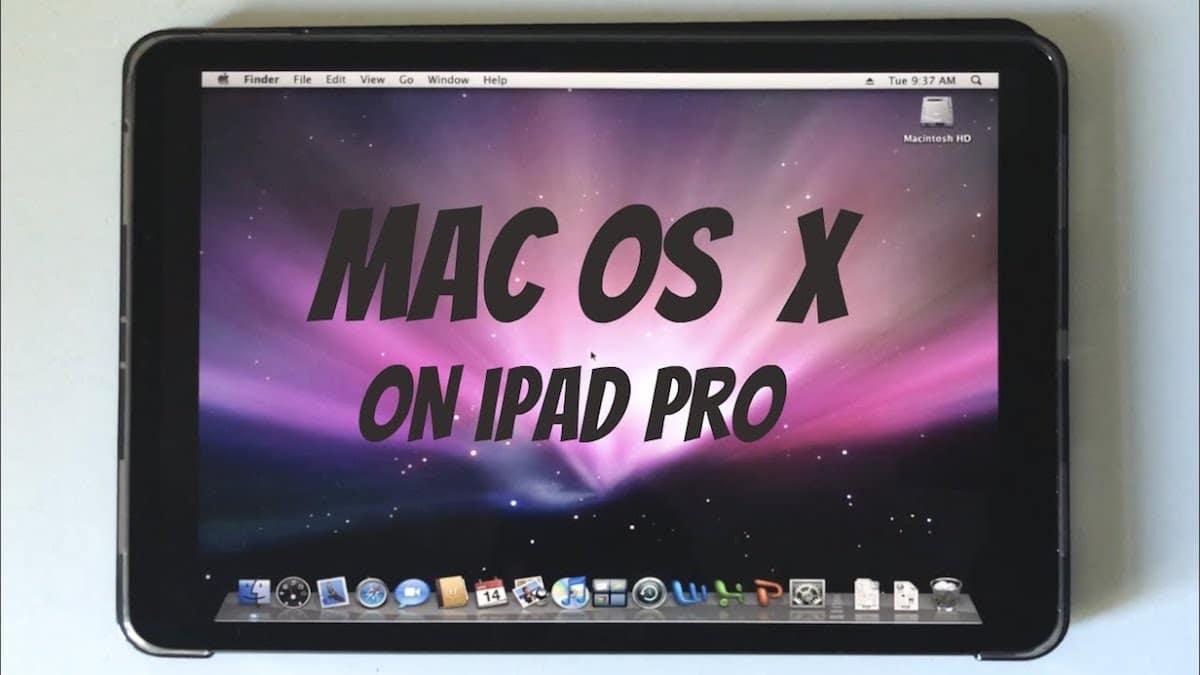 OS X Leopard en iPad Pro 2020