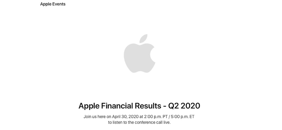 Resultados financieros Apple Q1 2020
