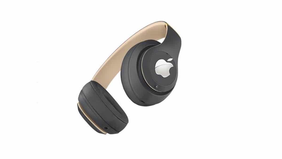 Concepto de los auriculares AirPods Studio de Apple