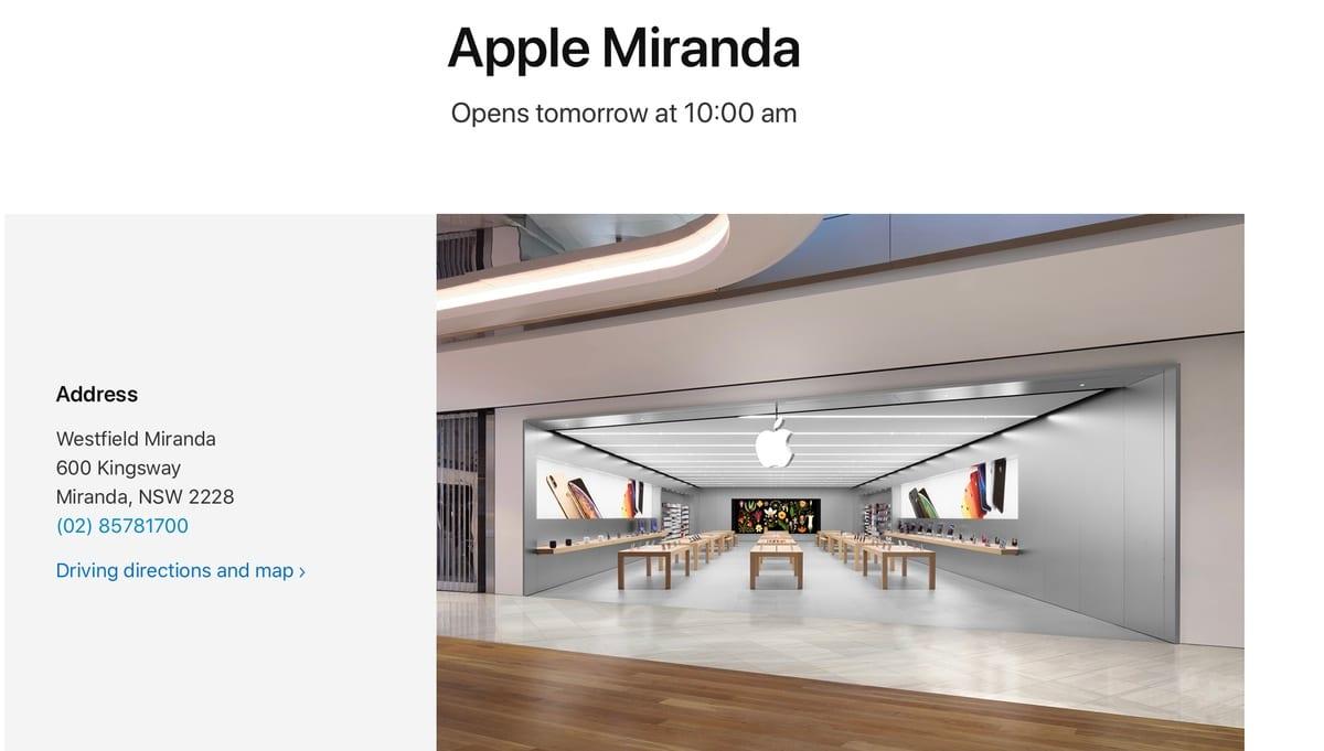 Las Apple Store de Australia reabren ya