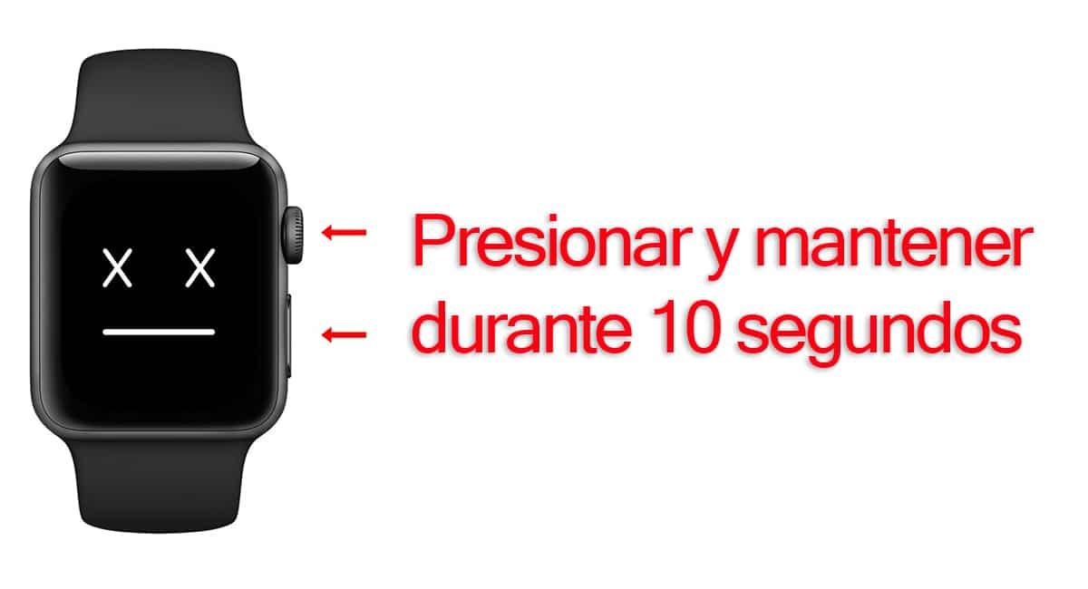 Reiniciar el Apple Watch