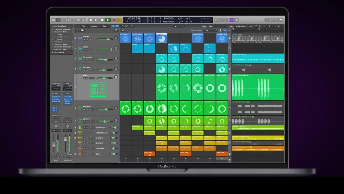 Logic Pro se actualiza con la novedad de Live Loops