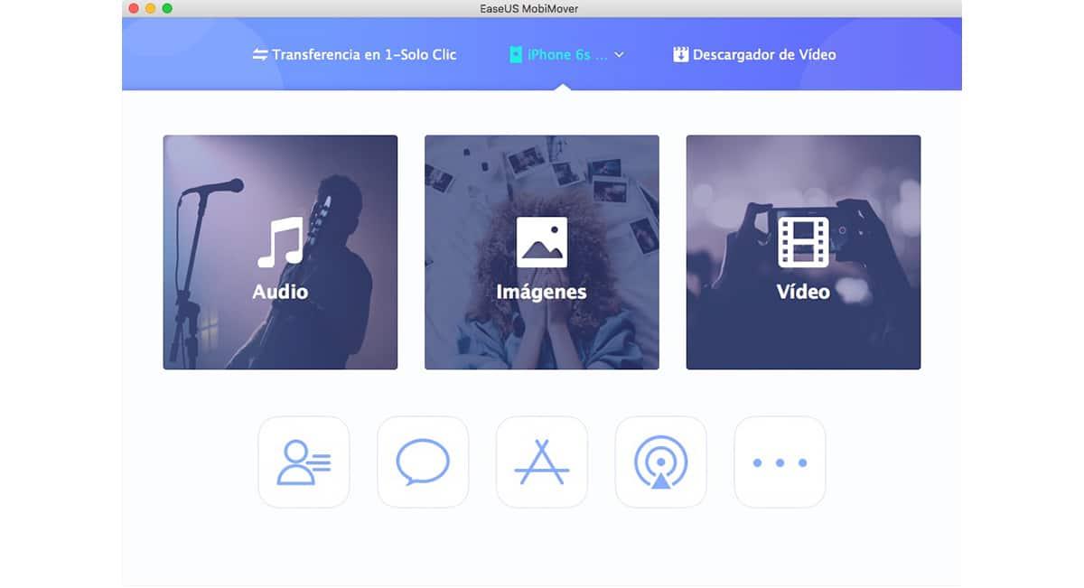 EasyUS MobiMover - Acceder al contenido de un dispositivo iOS