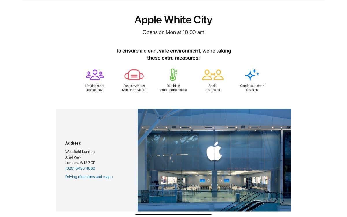 Las Apple Store de Reino Unido reabren en Reino Unido