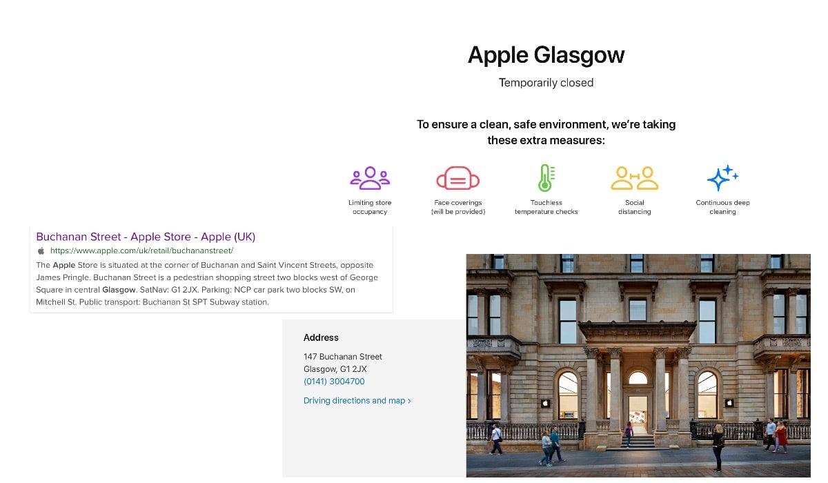 Apple cambia el nombre de la Apple Store de Glasgow en Escocia por motivos raciales