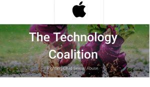 Apple forma parte de la coalición contra el abuso infantil