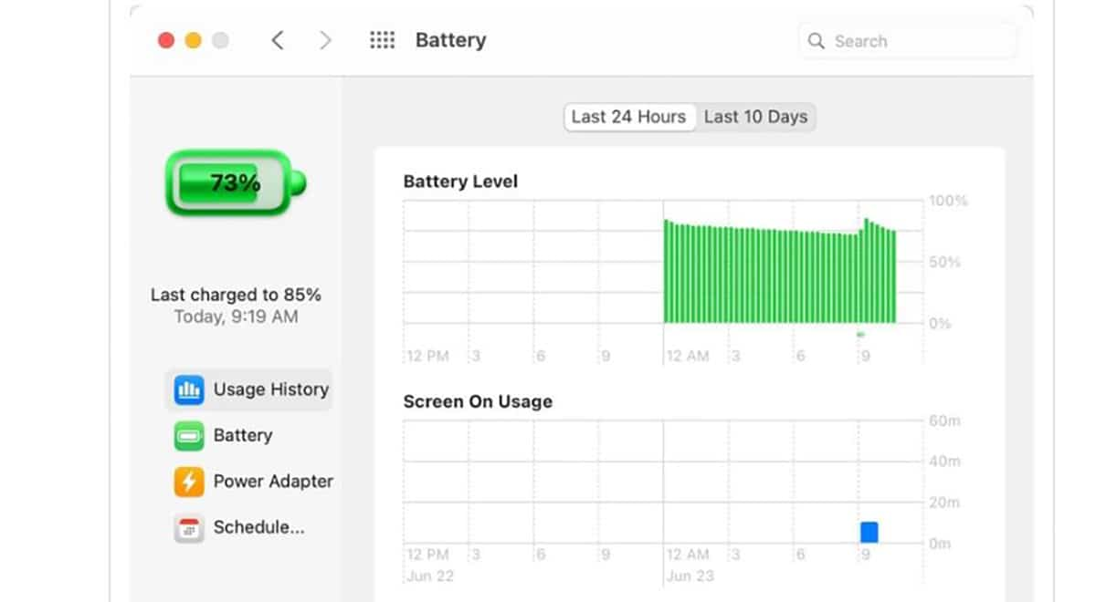 Nueva funcion de bateria en macOS Big Sur