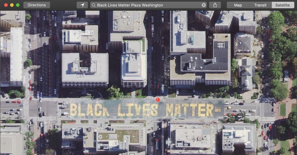 Apple Maps se actualiza enseñando el mural Black Lives Matter