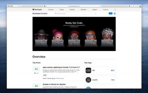 Nuevos foros para desarrolladores en Apple