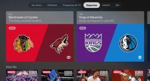 Apple TV deportes