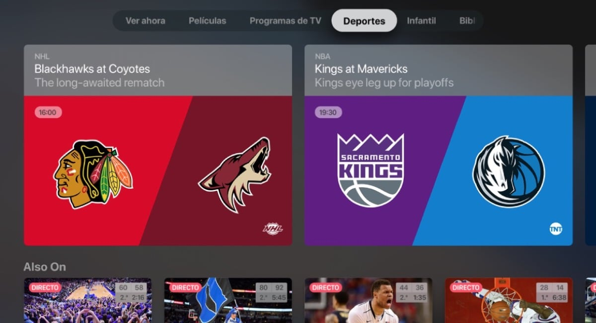 Apple TV deportes