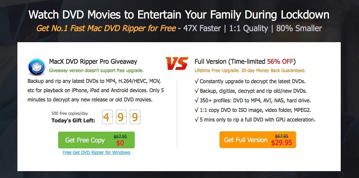 MacX DVD Ripper Pro regala 500 licencias al día