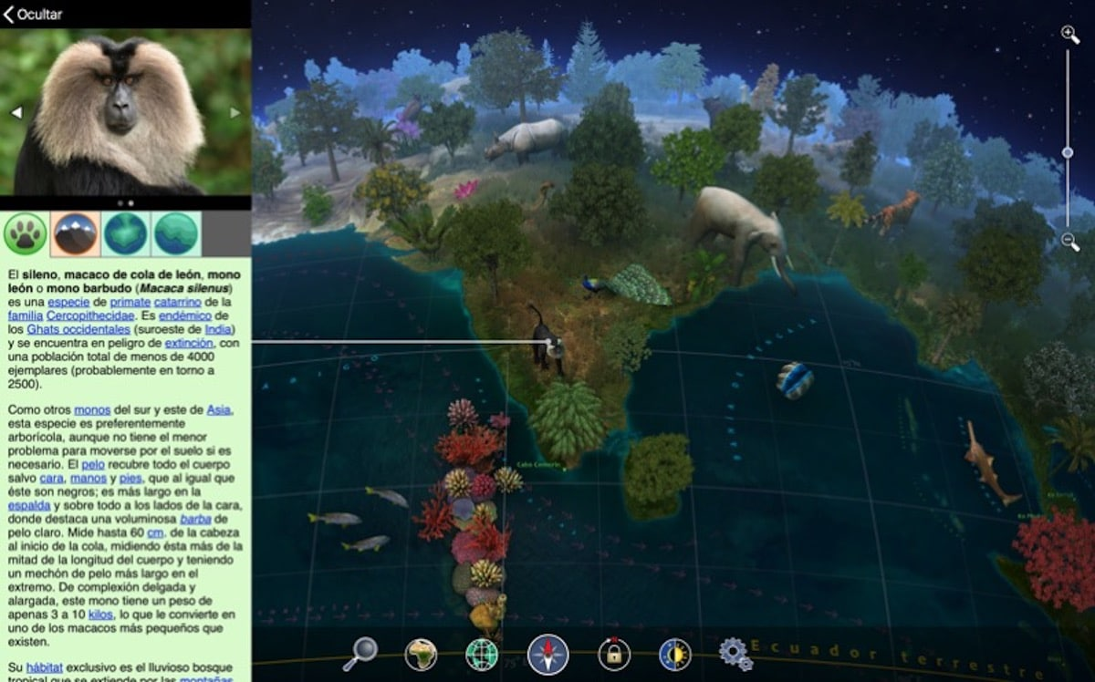 Tierra 3D - Atlas de Animales