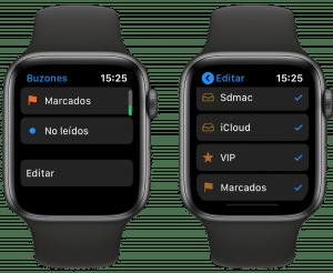 Mail en Apple Watch
