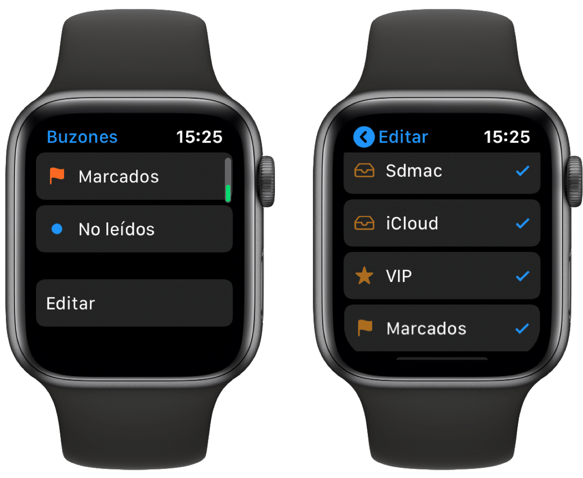 Mail en Apple Watch
