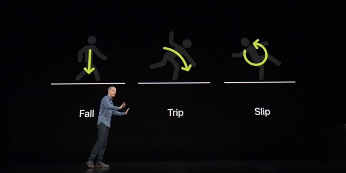 La detección de caídas del Apple Watch podría mandar información médica también